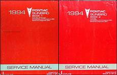 auto repair manual online 1990 pontiac sunbird instrument cluster 1994 pontiac sunbird repair shop manual original set