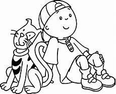 caillou coloring pages learny