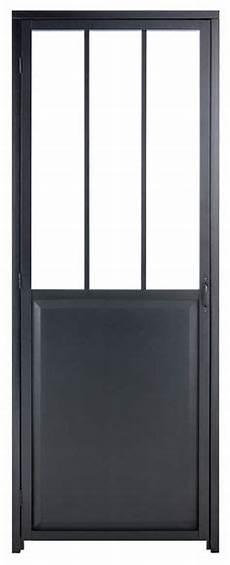 Porte Coulissante Aluminium Gris Fonc 233 Verre Tremp 233