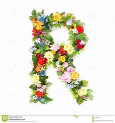 Letters Of Leaves And Flowers Stock Image Image Of