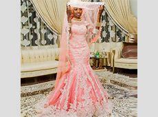 African Style Muslim Mermaid Wedding Dresses With Half