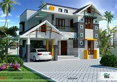 contemporary kerala style house plans 1800sqft mixed roof kerala house design kerala house