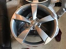 new 18 quot inch audi rotor alloy wheels grey a3 a4 a5 a6 rs3