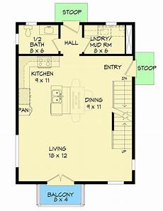 house plans for downward sloping lots plan 68637vr minimalist house plan for a front to back