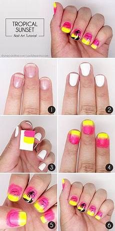18 simple phase by phase summer nail art tutorials for