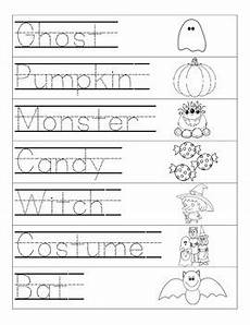 halloween word tracing page by that creative teacher tpt
