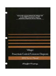 2002 mercury villager powertrain control emissions diagnosis service manual