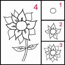 Cara Mudah Mengajari Anak Anak Menggambar Bunga Matahari