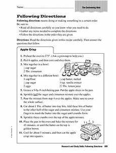 following directions worksheets grade 2 11694 research and study skills following directions worksheet for 2nd 3rd grade lesson planet