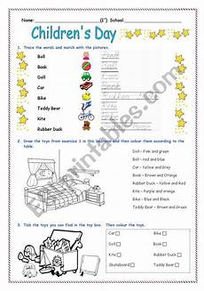 s day worksheets 20467 children 180 s day activity worksheet esl worksheet by diana parracho