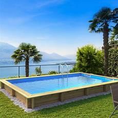piscine hors sol piscine hors sol bois weva l 6 54 x l 3 54 x h 1 33 m