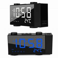 Time Projection Dual Alarm Timing Date by Digital Clocks Clock Radios Led Time Projection Dual