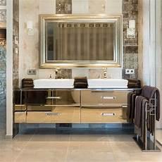 Mirrored Bathroom Vanity Units luxury bronze mirrored bathroom vanity unit