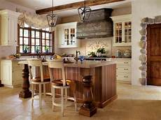 french country kitchen with stone topped island hgtv