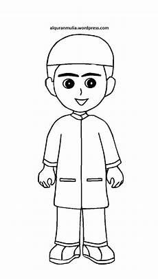 31 Gambar Mewarnai Anak Muslim Desain Hidupmu