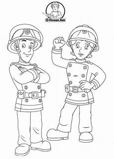 fireman sam with his friend fireman sam coloring books