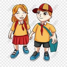 Penjahat Kartun Sekolah Sekolah Dasar Kartun Anak Laki