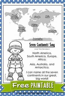 seven continents song 3rd grade social studies 6th grade social studies kindergarten social