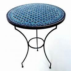 mosaiktisch garten marokkanischer mosaiktisch fassia blautuerkis d60cm