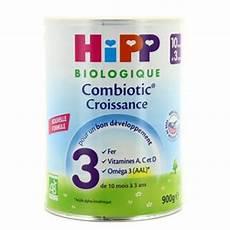 hipp lait 3 combiotic 174 croissance bio de 10 mois 224 3 ans