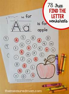 printable letter a worksheets for preschoolers 23013 free quot find the letter quot alphabet worksheets alphabet activities preschool worksheets alphabet