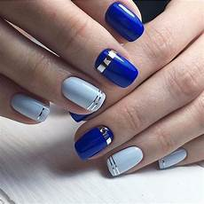 advertisement with images two color nails blue nail
