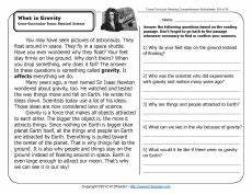 push and pull 2nd grade reading comprehension reading