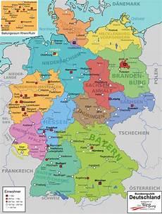 Kinder Malvorlagen Deutschlandkarte Deutschlandkarte Der Weg 252 Ber Bundesl 228 Nder Landkarte