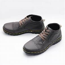 jual sepatu boot pria casual kulit asli handmade murah di lapak fordza shop kamslay