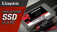 how to install ssd in pc kingston technology
