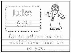 free bible handwriting worksheets 21695 bible verse luke 6 31 tracing worksheet preschool kdg bible stories