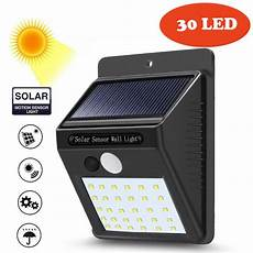 super 30 led solar powered wall light motion sensor outdoor garden security l dropshipping