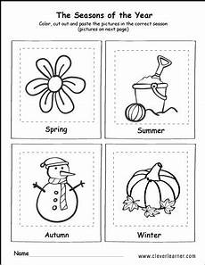 The 4 Seasons Coloring And Activity For Children Seasons