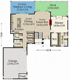 sloped lot house plans 3 bed modern house plan for the rear sloping lot 85325ms