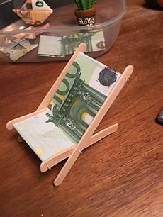 Liegestuhl Aus Geld - geldgeschenk liegestuhl hochzeit urlaub geldgeschenke