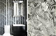 Du Papier Peint Noir Blanc Dans Les Toilettes Au