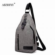 unisex classic usb charging chest handbag sling shoulder fashion designer crossbody bags