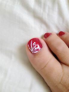 toe nail design art red freehand toe nail designs toe