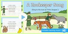 a zookeeper song powerpoint animals safari park zoo
