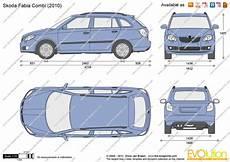 The Blueprints Vector Drawing Skoda Fabia Combi