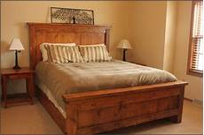 bed frame plank headboard funky simple wood bed frame ideas homesfeed