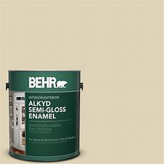 behr marquee 1 gal ppu6 8 pale honey semi gloss enamel exterior paint 545001 the home depot