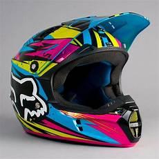 dirt bike helm fox v1 undertow helmet green blue helmets