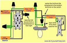 wiring diagram to take from a receptacle for a light home electrical wiring electrical