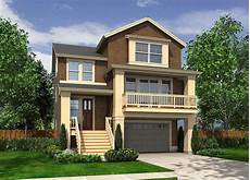 house plans for narrow lots with garage plan 23270jd narrow craftsman with drive under garage
