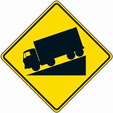 Reflective Warning Signs Truck Decline Symbol Seton