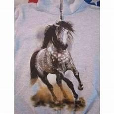 cavallo pomellato felpa estiva con cappuccio e zip bimbo quot cavallo pomellato quot
