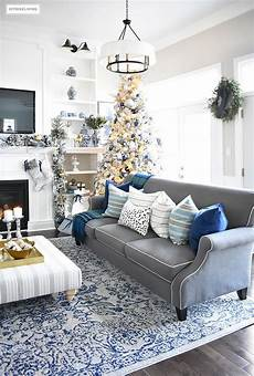Home Tour Living Room With Blue White And