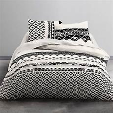 parure de lit 2 personnes keops linge de lit noir