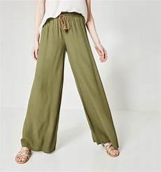 Pantalon Large Femme Kaki Pantalons Femme Promod